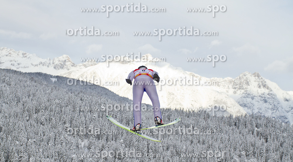 19.12.2011, Casino Arena, Seefeld, AUT, FIS Nordische Kombination, DKB FIS Weltcup Skispringen TEAM HS 109 Ski Sprung, im Bild Karl-August Tiirmaa (EST) // Karl-August Tiirmaa of Estonia during Ski jumping at FIS Nordic Combined World Cup in Seefeld, Austria on 20111211. EXPA Pictures © 2011, PhotoCredit: EXPA/ P.Rinderer