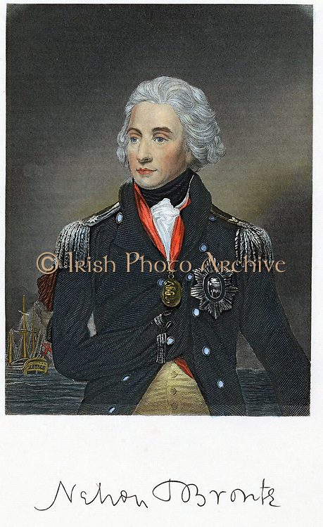 Horatio Nelson (1758-1805) English naval commander. Engraving after portrait by Abbot