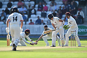 Marcus Trescothick of Somerset is unable to catch Tom Bailey of Lancashire during the Specsavers County Champ Div 1 match between Somerset County Cricket Club and Lancashire County Cricket Club at the Cooper Associates County Ground, Taunton, United Kingdom on 5 September 2018.