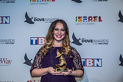 October 11, 2016 - Nashville, Tennessee, USA - Christine D'Clario at the 47th Annual GMA Dove Awards  in Nashville, TN at Allen Arena on the campus of Lipscomb University.  The GMA Dove Awards is an awards show produced by the Gospel Music Association. (Credit Image: © Jason Walle via ZUMA Wire)