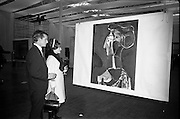 "11/11/1967<br /> 11/11/1967<br /> 11 November 1967<br /> Press preview of ROSC 1967 Exhibition at the R.D.S.,  Picasso's ""Grand Profil 1963"" being viewed by Mr. and Mrs Michael Graham of Dublin, at the preview of the exhibition."