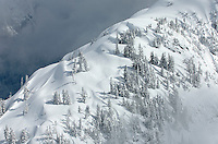 Snow covered ridge Mount Baker Wilderness Washington USA
