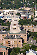 Austin Aerial Skyline, Texas State Capitol