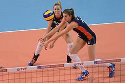 07-01-2016 TUR: European Olympic Qualification Tournament Nederland - Kroatie, Ankara<br /> Nederland moet winnen om als groepshoofd naar de halve finale te gaan / Maret Balkestein-Grothues #6, Anne Buijs #11
