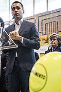 Melfi, Basilicata, Italia, 21/05/2016<br /> Il vicepresidente della Camera dei Deputati, Luigi Di Maio, a Melfi in sostegno della candidata del Movimento 5 Stelle alle elezioni comunali di Melfi, Angela Bisogno.<br /> <br /> Melfi, Basilicata, Italia, 21/05/2016<br /> The vice president of the Chamber of Deputies, Luigi Di Maio, in Melfi to support the candidate of Five Star Movement for the local election, Angela Bisogno.