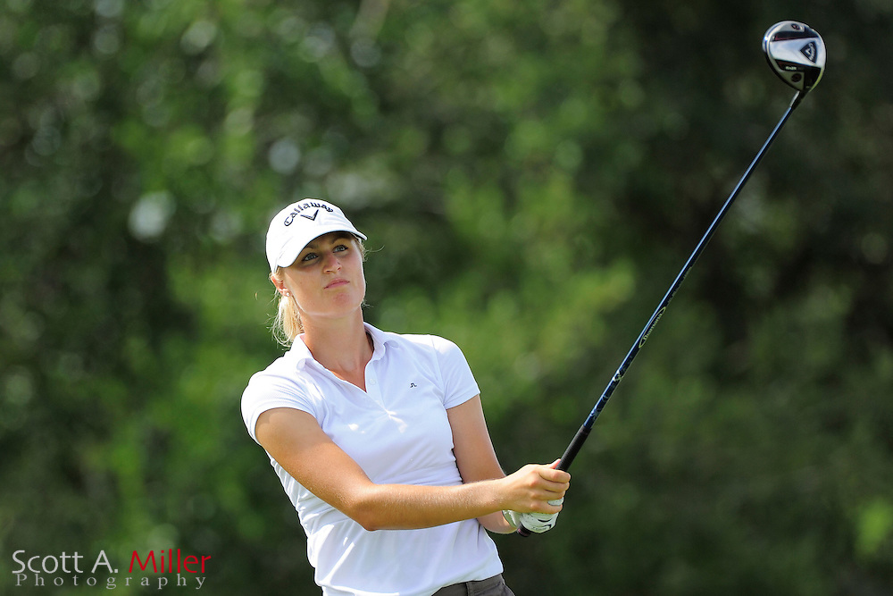 Camilla Lennarth during the final round of the Daytona Beach Invitational  at LPGA International on Sep 30, 2012 in Daytona Beach, Florida...©2012 Scott A. Miller