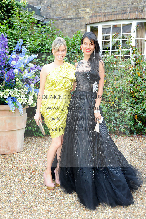 Left to right, CAROLINE HABIB and GOGA ASHKENAZI at the Raisa Gorbachev Foundation Party held at Stud House, Hampton Court Palace on 5th June 2010.  The night is in aid of the Raisa Gorbachev Foundation, an international fund fighting child cancer.