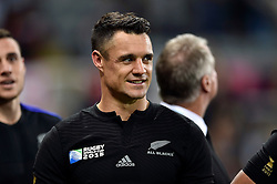 Dan Carter of New Zealand looks on after the match - Mandatory byline: Patrick Khachfe/JMP - 07966 386802 - 09/10/2015 - RUGBY UNION - St James' Park - Newcastle, England - New Zealand v Tonga - Rugby World Cup 2015 Pool C.