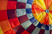 Close-up of 'Aerloon' inflating at the Crown of Maine Balloon Fair, Presque Isle, Maine.