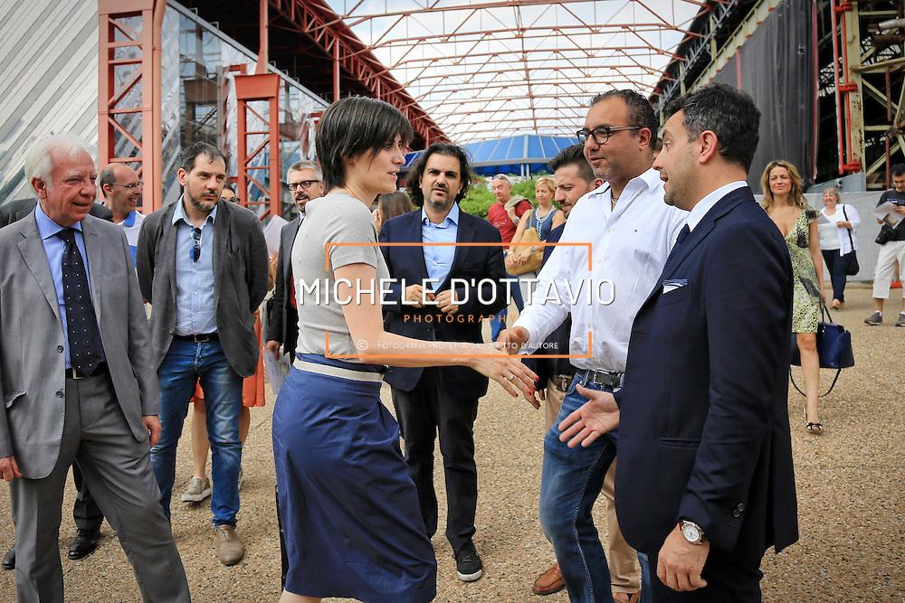 Chiara Appendino visita l'area MRF  Torino 29 giugno 2016
