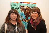 Bernadine Carroll, Galway County Arts Office (left) and Kate Costello, City Arts Office, at the opening of 'SYNC' a Multi-Sensory Exhibition at Galway Arts Centre during Baboró International Arts Festival for Children. The exhibition features new work from three Irish artists, Elmarie Collins, Sarah O'Brien and Daniel Greaney who were mentored by teachers, children and young people at Abalta School, a specialist school for children, young people and families living with autism. ..
