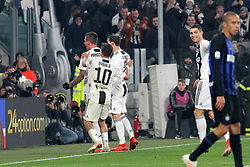 December 7, 2018 - Milan, Piedmont, Italy - Mario Mandzukic (Juventus FC) celebrates with teammates  after scoring during the Serie A football match between Juventus FC and FC Internazionale at Allianz Stadium on December 07, 2018 in Turin, Italy..Juventus won 1-0 over Internazionale. (Credit Image: © Massimiliano Ferraro/NurPhoto via ZUMA Press)