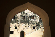 Africa. Kenya. Lamu Island..Lamu fort. Swahili architecture..CD0012