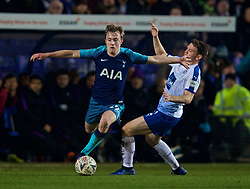 BIRKENHEAD, ENGLAND - Friday, January 4, 2019: Tottenham Hotspur's Oliver Skipp during the FA Cup 3rd Round match between Tranmere Rovers FC and Tottenham Hotspur FC at Prenton Park. (Pic by David Rawcliffe/Propaganda)