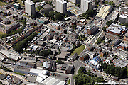 aerial photograph of hillgate Stockport town centre Stockport Cheshire Greater Manchester England UK