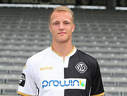 14.07.2015, Scholz Arena, Aalen, GER, 2. FBL, VfR Aalen, Fototermin, im Bild Steffen Kienle ( VfR Aalen ) // during the official Team and Portrait Photoshoot of German 2nd Bundesliga Club VfR Aalen at the Scholz Arena in Aalen, Germany on 2015/07/14. EXPA Pictures © 2015, PhotoCredit: EXPA/ Eibner-Pressefoto/ Langer<br /> <br /> *****ATTENTION - OUT of GER*****