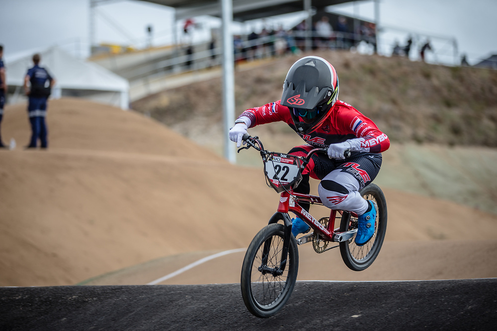 #22 (SMULDERS Merel) NED at Round 3 of the 2020 UCI BMX Supercross World Cup in Bathurst, Australia.