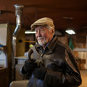 Artist Robert Cumpston showing his artistry made by welding farming tools and raw metal together to yield sculptures of animals and abstract pieces.  Photography by Jose More
