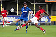 AFC Wimbledon midfielder Anthony Wordsworth (40) battles for possession during the Pre-Season Friendly match between AFC Wimbledon and Bristol City at the Cherry Red Records Stadium, Kingston, England on 9 July 2019.