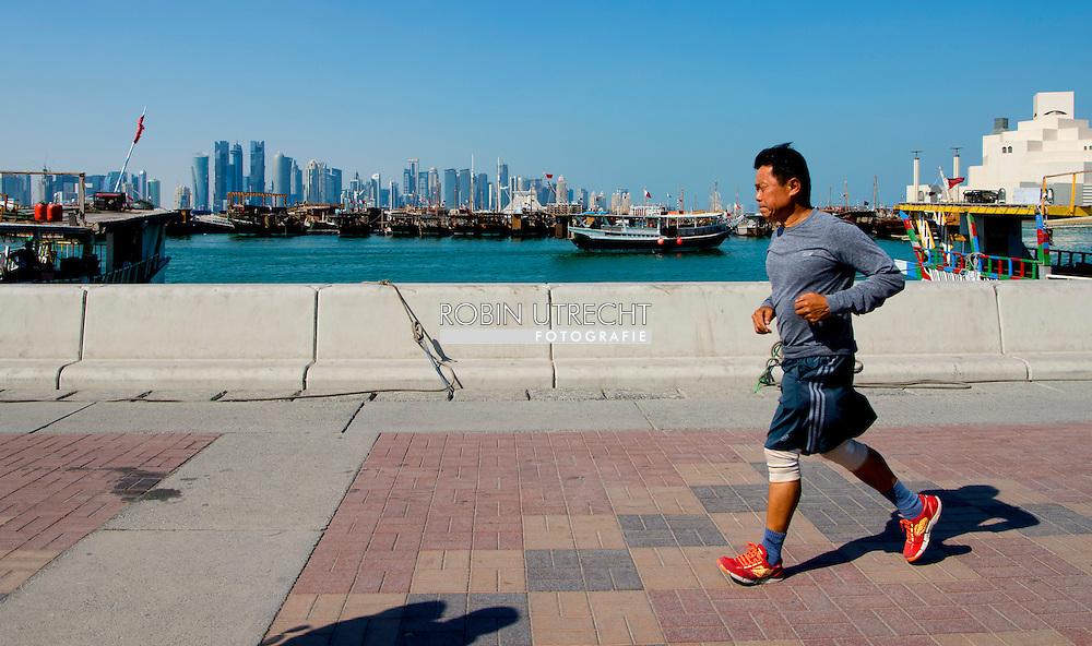 DOHA QATAR 1-3-2016  het wk voetbal fifa hij besloten dat het doorgaat gaat gewoon door in qatar in 2022  het straatleven in Doha Qatar .copyright robin utrecht