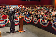 Democratic presidential candidate Senator Bernie Sanders thanks supporters following a campaign rally at the Memminger Theater February 16, 2016 in Charleston, South Carolina, USA.