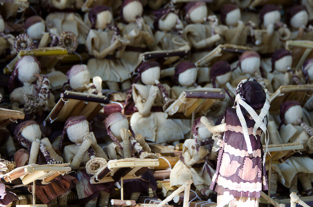 An orchestra made from totomoxtle, or corn husks, at the Noche de Rabanos festival, Oaxaca, Mexico.
