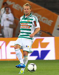 17.07.2012, Gerhard Hanappi Stadion, Wien, AUT, Testspiel, SK Rapid Wien vs AS Roma, im Bild Mario Sonnleitner, (SK Rapid Wien, #6) // during Test Match, between SK Rapid Vienna and AS Roma at the Gerhard Hanappi Stadion, Vienna, Austria on 2012/07/17. EXPA Pictures © 2012, PhotoCredit: EXPA/ Thomas Haumer