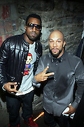 l to r: Kanye West and Common at the ' Locals Only ' Underground Event Series sponsored by NBCNY.com featuring Common held at The Angel Orensanz Foundation for Art on the Lower East side on Mahanttan on December 11, 2008..