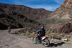 Motorcycles on Titus Canyon Road, Death Valley National Park, California, United States of America