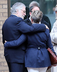 Dave Lee Travis with his wife Marianne Griffin outside Southwark Crown Court in London after the jury retired to consider it's verdict , Monday, 10th February 2014. Picture by Stephen Lock / i-Images