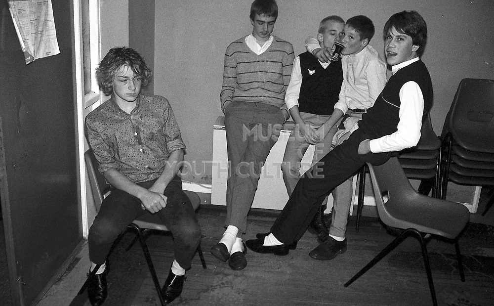 Neville and friends at Dean's engagement party, 1980s.