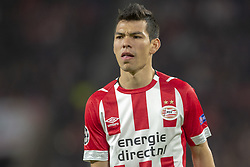 October 4, 2018 - Eindhoven, Netherlands - Hirving Lozano of PSV looks on during the UEFA Champions League Group B match between PSV Eindhoven and FC Internazionale Milano at Philips Stadium in Eindhoven, Holland on October 3, 2018  (Credit Image: © Andrew Surma/NurPhoto/ZUMA Press)