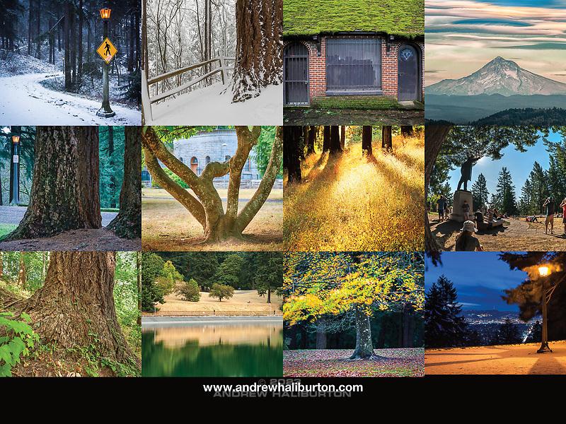 Mount Tabor Park 2017 Calendar Back Cover, Portland, Oregon