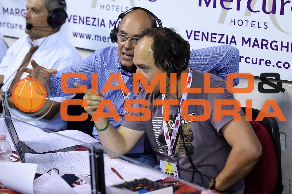 Massimo Barchiesi, Attilio Caja<br /> Umana Reyer Venezia - Dolomiti Energia Aquila Basket Trento<br /> Lega Basket Serie A 2016/2017<br /> Playoff, finale gara 5<br /> Venezia, 18/06/2017<br /> Foto M.Ceretti / Ciamillo-Castoria