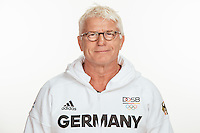Detlef Ultsch poses at a photocall during the preparations for the Olympic Games in Rio at the Emmich Cambrai Barracks in Hanover, Germany, taken on 12/07/16 | usage worldwide
