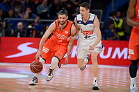 Real Madrid's Jaycee Carroll and Valencia Basket's Antoine Diot during Quarter Finals match of 2017 King's Cup at Fernando Buesa Arena in Vitoria, Spain. February 19, 2017. (ALTERPHOTOS/BorjaB.Hojas)