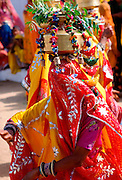 Veiled dancer at a festival in Nalu Village, Rajasthan, India