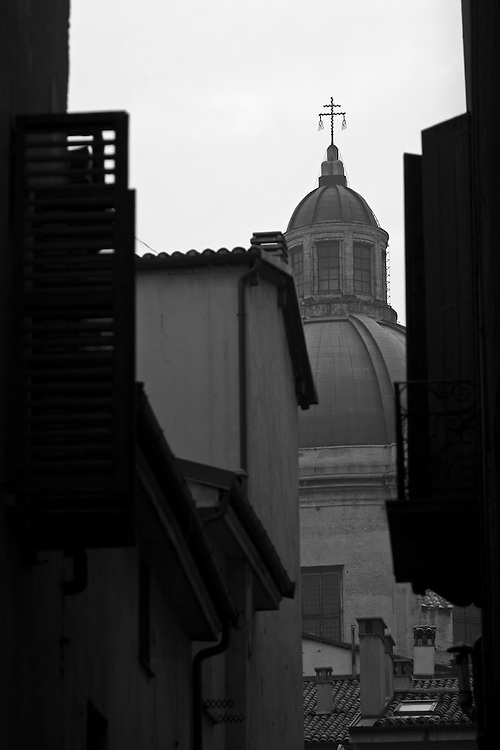 """Black and white photography of a curch in Bologna Italy by Karl R Lilliendahl photographer.This photo is available as open edition and limited edition giclee print in four sizes. Click on """"Get Print"""" to see more details."""