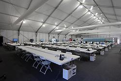 Olympic Winter Games Vancouver 2010 - Olympische Winter Spiele Vancouver 2010, Whistler Sliding Centre, Press Centre Bobsleigh, Pressezentrum an der Bobbahn, media, Medien, press, Presse, Raum, Presseraum, Journalisten,   Photo by Malte Christians / HOCH ZWEI / SPORTIDA.com.