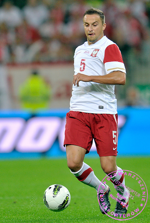 Dariusz Dudka of Poland controls the ball during friendly soccer match between Poland and Germany at PGE Arena in Gdansk, Poland...Poland, Gdansk, September 6, 2011..Picture also available in RAW (NEF) or TIFF format on special request...For editorial use only. Any commercial or promotional use requires permission...Photo by Adam Nurkiewicz / Mediasport