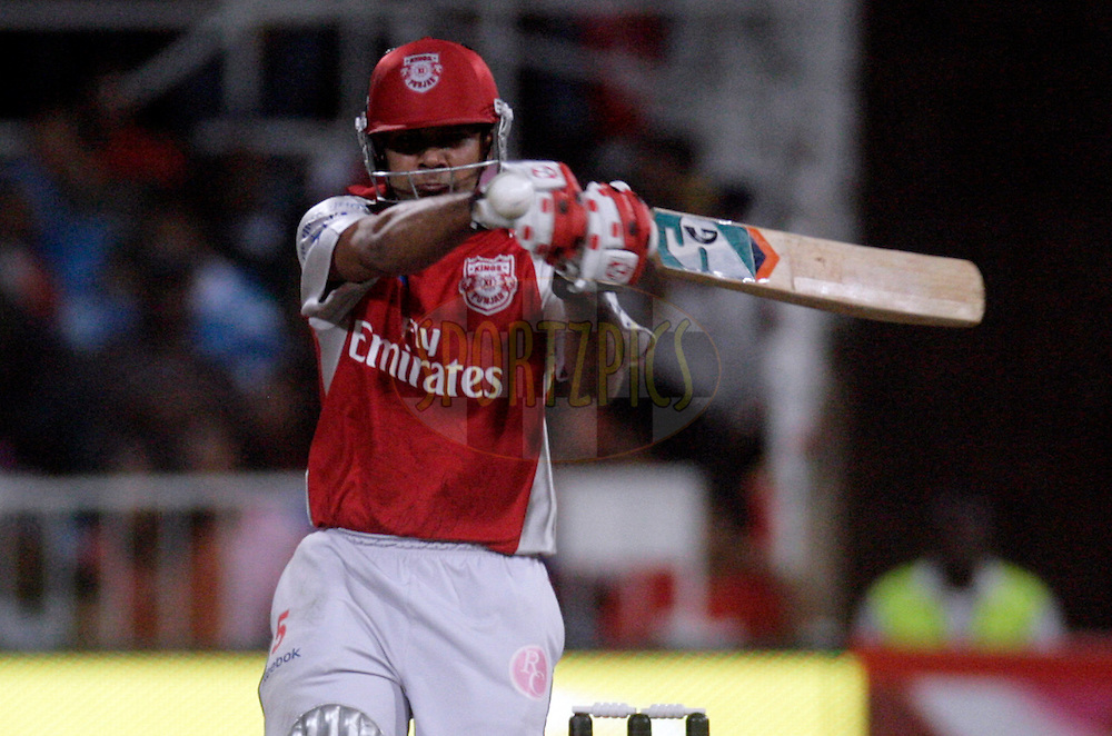 DURBAN, SOUTH AFRICA - 1 May 2009. Karan Goel plays a shot during the IPL Season 2 match between Kings X1 Punjab and the Royal Challengers Bangalore held at Sahara Stadium Kingsmead, Durban, South Africa..