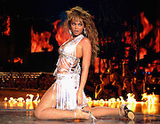 EDINBURGH, SCOTLAND - NOVEMBER 6: (U.S. TABS OUT) Singer Beyonce Knowles performs on stage during the 2003 MTV Europe Music Awards at Ocean Terminal on November 6, 2003 in Edinburgh, Scotland.  (Photo by Frank Micelotta/Getty Images)