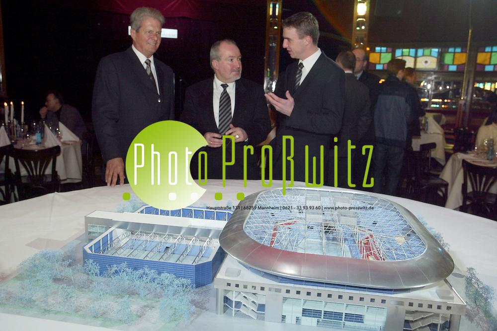 Mannheim.  Spatenstich. B&ouml;sfeld. Arena - Im Spiegelzelt Palazzo<br /><br /><br />Bild: Pro&szlig;witz