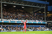 Fulham (27) David Button, celebrate goal during the EFL Sky Bet Championship match between Queens Park Rangers and Fulham at the Loftus Road Stadium, London, England on 29 September 2017. Photo by Sebastian Frej.