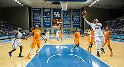 Kentucky guard Makayla Epps, right, shoots a layup in the second half.<br /> <br /> The University of Kentucky hosted the University of Tennessee, Monday, Jan. 25, 2016 at Memorial Coliseum in Lexington .