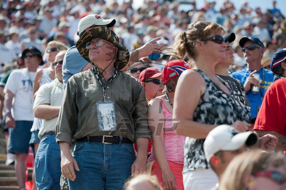 Brooklyn, MI - JUN 17, 2012:   Fans during the Quicken Loans 400 race at Michigan International Speedway in Brooklyn, MI.