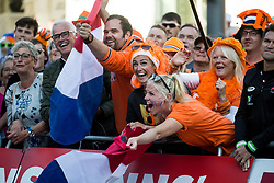 Supporters of Netherland celebrate during the Women's Elite Road Race a 156.2km race from Kufstein to Innsbruck 582m at the 91st UCI Road World Championships 2018 / RR / RWC / on September 29, 2018 in Innsbruck, Austria. Photo by Vid Ponikvar / Sportida