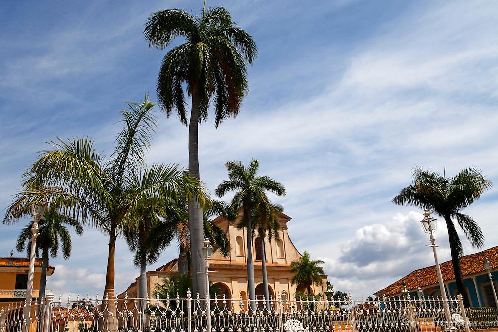 Central America, Cuba, Trinidad. Plaza Mayor of Trinidad, Cuba.