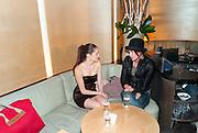 AMY BAILEY; CRISTA COBER, Launch of PRPS new luxury denim line called NOIR whilst raising money for Unicef Japan. Nobu. Berkeley St. London. 5 September 2011. <br /> <br />  , -DO NOT ARCHIVE-© Copyright Photograph by Dafydd Jones. 248 Clapham Rd. London SW9 0PZ. Tel 0207 820 0771. www.dafjones.com.