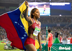 14.08.2016, Olympic Stadium, Rio de Janeiro, BRA, Rio 2016, Olympische Sommerspiele, Dreisprung, Finale, Damen, im Bild Caterine Ibarguen (COL, Goldmedaille) // Gold medalist Caterine Ibarguen of Colombia during the Women's Triple Jump Final of the Rio 2016 Olympic Summer Games at the Olympic Stadium in Rio de Janeiro, Brazil on 2016/08/14. EXPA Pictures © 2016, PhotoCredit: EXPA/ Johann Groder